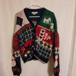 Vintage   Scotty Dog Sweater Cardigan